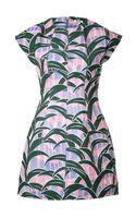 Kenzo Woven Cotton Print Dress - Lyst