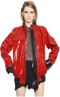 Anthony Vaccarello Nappa Patent Leather Jacket - Lyst
