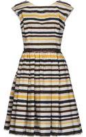 Dolce & Gabbana Multi-Colour Striped Short Dress - Lyst