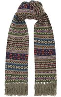 Polo Ralph Lauren Litchfield Fair Isle Scarf - Lyst