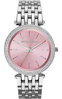Michael Kors Ladies Darci Stainless Steel Glitz Watch - Lyst