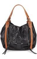 Kooba Jonnie Bicolored Leather Shoulder Bag - Lyst