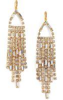 ABS By Allen Schwartz Fringe Drop Earrings - Lyst