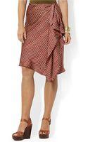 Lauren by Ralph Lauren Striped Sarong Skirt - Lyst