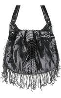 Zagliani Fringe Python Shoulder Bag - Lyst