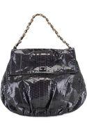 Zagliani Shiny Python Ninette Large Shoulder Bag - Lyst
