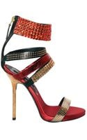 Diego Dolcini Swarovski and Studs Sandals - Lyst