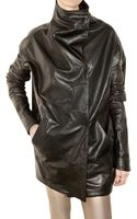 Aminaka Wilmont Nappa Oversize Leather Jacket - Lyst