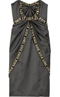 Temperley London Mini Fabiana Crystal-embellished Silk-satin Dress - Lyst