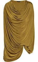 Donna Karan New York Draped Jersey Top - Lyst