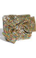 Betsey Johnson Get Your Glitz On Sequined Bow Clutch - Lyst
