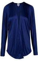 Halston Heritage Shirred Back Jersey Cardigan - Lyst