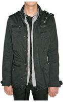 Balmain Military Parka Gabardine Jacket - Lyst