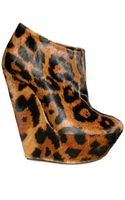 Giuseppe Zanotti 150mm Printed Leopard Low Boot Wedges - Lyst