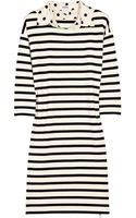 Sonia By Sonia Rykiel Polka-dot Collar Striped Cotton Dress - Lyst