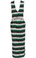 Marni Long Dress with Wave Print - Lyst