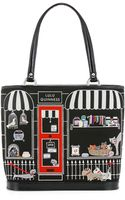 Lulu Guinness Black Medium Pet Shop Edith - Lyst