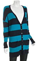 Autumn Cashmere Caribbean Rugby Stripe Cashmere Grandfather Cardigan Sweater - Lyst