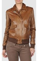 Trussardi 1911 Leather Outerwear - Lyst