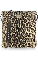 Valentino Rockstud Leopard-print Calf Hair Shoulder Bag - Lyst
