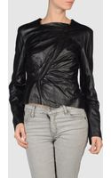 Hussein Chalayan Leather Outerwear - Lyst