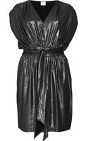 Halston Heritage Metallic Pebbled Lamé Dress - Lyst
