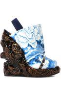 Rodarte Resin Wedge Sandals (wood Effect) - Lyst