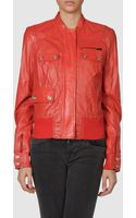 Pinko Leather Outerwear - Lyst