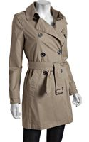 Burberry Brit Dark Trench Cotton Double Breasted Balmoral Belted Trench - Lyst