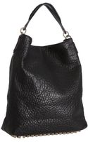 Alexander Wang Black Pebbled Leather Darcy Studded Base Hobo - Lyst