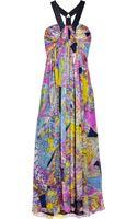 Matthew Williamson Escape Printed Silk-chiffon Gown - Lyst