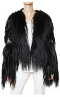 Balmain Mongolian Embroidered Fur Coat - Lyst