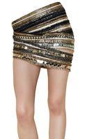 Balmain Embroidered Silk Chiffon Skirt - Lyst
