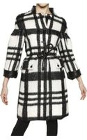 Burberry Prorsum Checked Twill Wool Mohair Alpaca Coat - Lyst