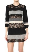 D&G Knit and Lace Dress - Lyst