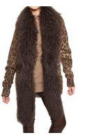 Dolce & Gabbana Mongolia Trim Leopard Print Knit Sweater - Lyst