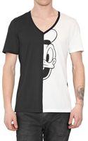 Neil Barrett Half Donald Print Jersey T-shirt - Lyst
