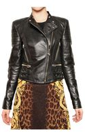 Versace Nappa Biker Leather Jacket - Lyst