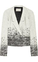 Jason Wu Cropped Wool-blend Jacket - Lyst