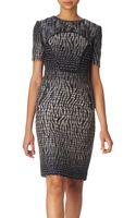 Matthew Williamson Panelled Textured Dress - Lyst