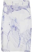 Clemens En August Printed Belted Cotton Skirt - Lyst