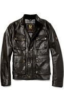 Belstaff Brad Distressed Leather Jacket - Lyst