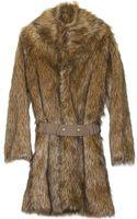 Sea Faux Fur Belted Coat - Lyst