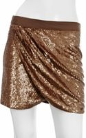 Haute Hippie Faux Wrap Mini Skirt - Lyst