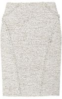 Zac Posen Bouclé-tweed Pencil Skirt - Lyst