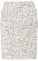 Zac Posen Bouclé-tweed Pencil Skirt - Lyst
