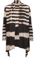 AllSaints Bleach Zebra Cardigan - Lyst