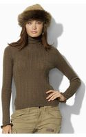 Ralph Lauren Blue Label Pointelle Wool Turtleneck - Lyst
