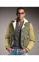 DSquared2 Shearling-cotton Bomber Jacket - Lyst