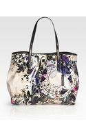 Jimmy Choo Scarlett Glazed Canvas Tote Bag - Lyst